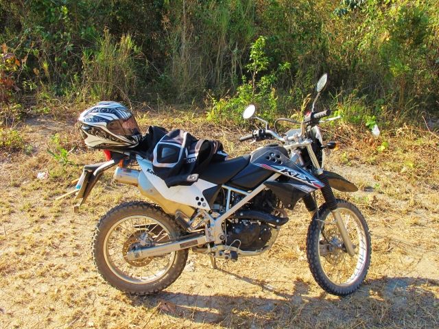 The perfect bike for getting from Huay Tung Tao to the Doi Pui campground, the difficult way (10km of steep dirt tracks and woodland paths).