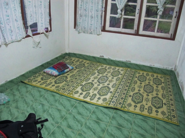 My extremely basic accommodation in an empty building at Hala Bala wildlife sanctuary HQ.