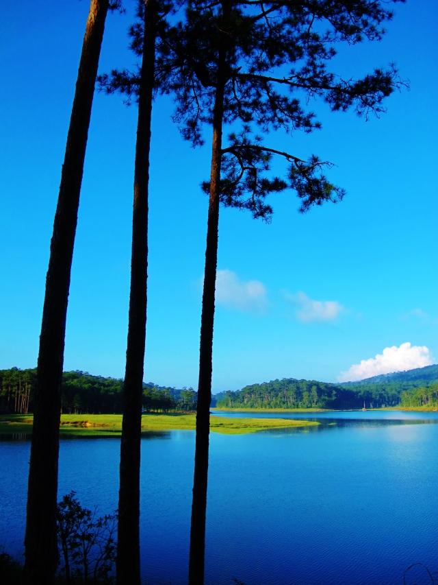 Tuyen Lam Lake - a very picturesque birding location.