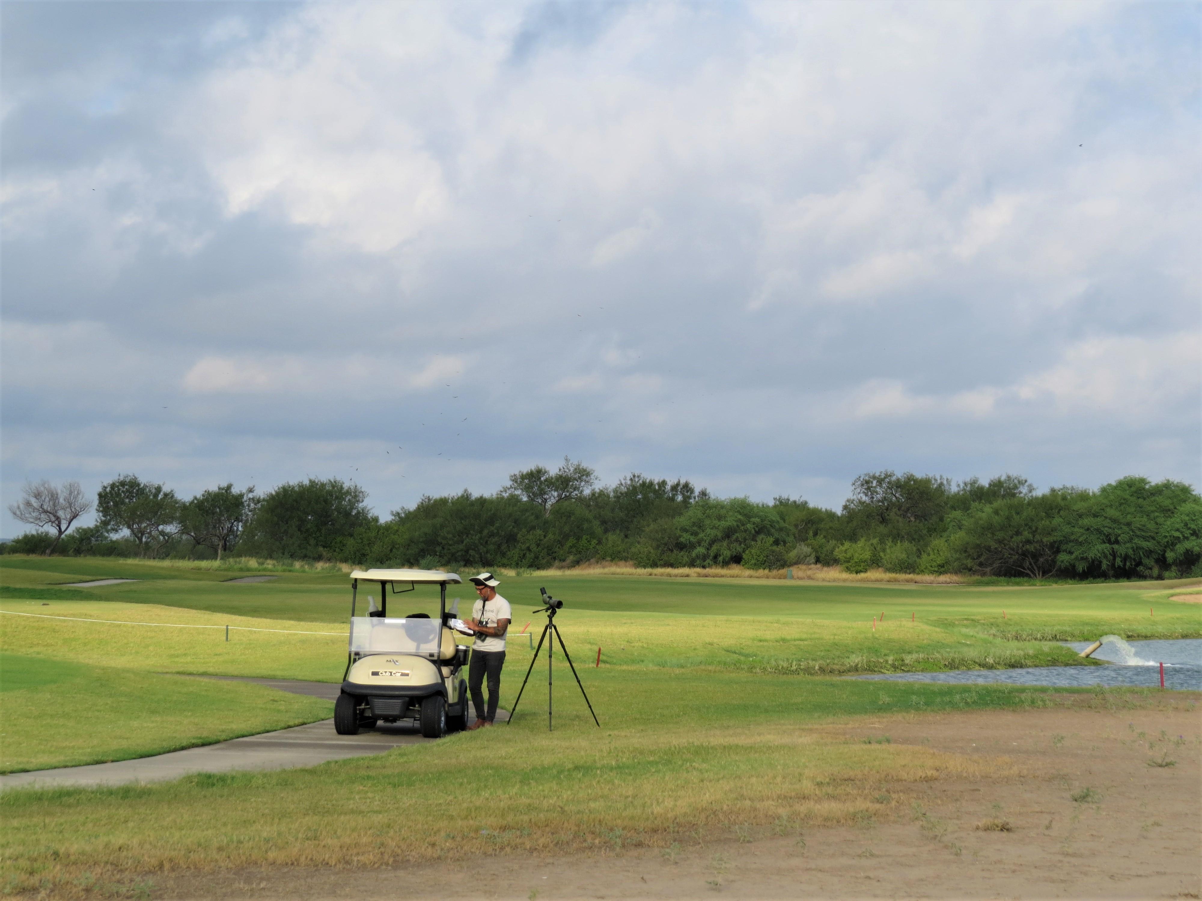 Birding by golf cart
