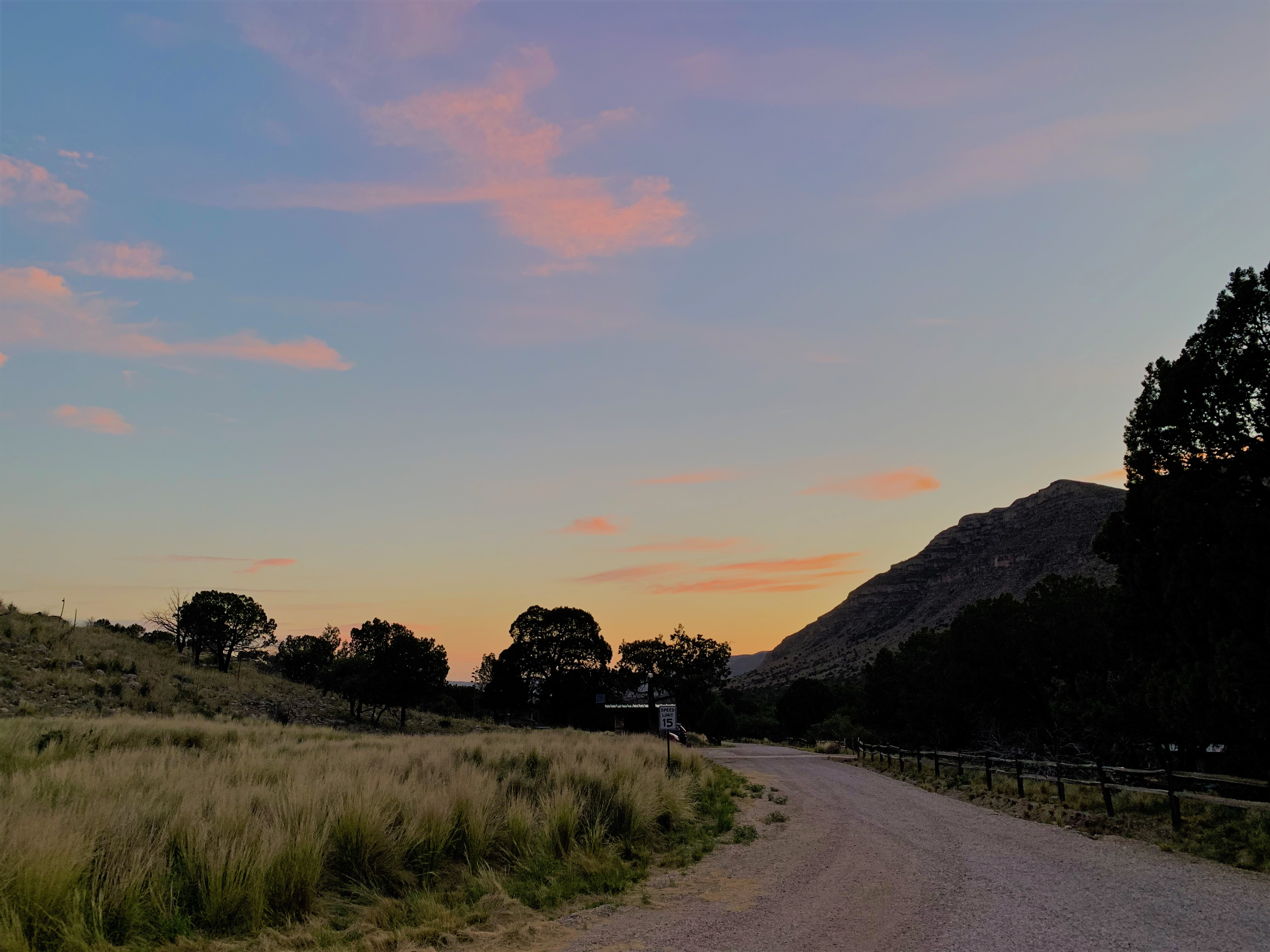 Dog Canyon sunset