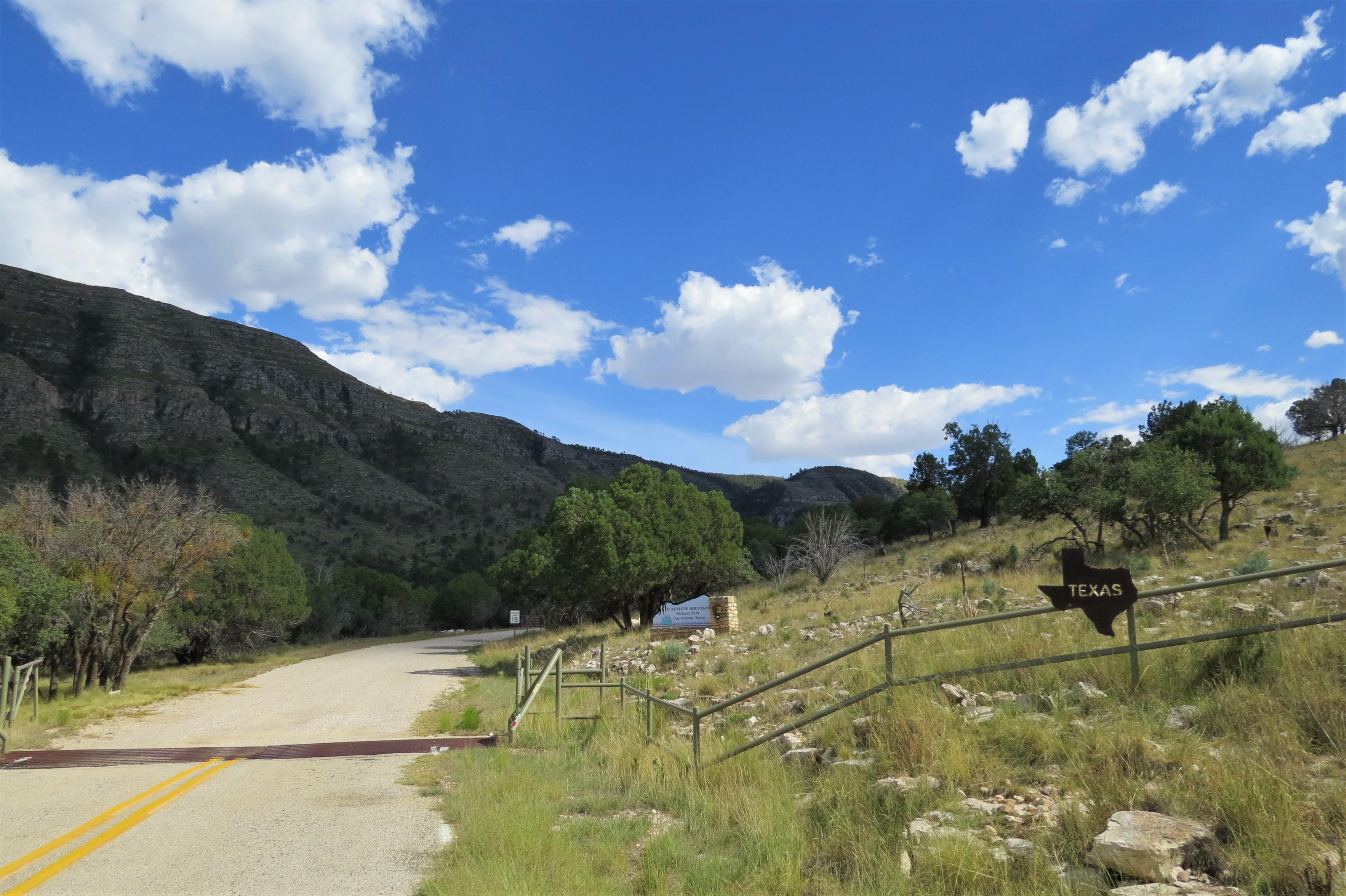 Texas NM Border at Dog Canyon